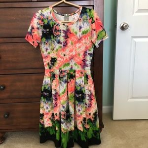Lularoe Amelia multi color dress - small